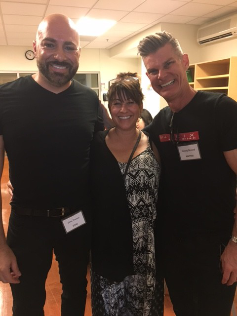 Event founder Lenny Strands (far right) stands with fellow industry volunteers, Gino Trunzo (far left) and lead west coast educator for Essie Jolene Brodeur.