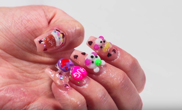 Video 3 D Valentines Day Nail Art Tutorials From Kupa