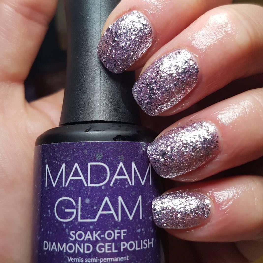 Madam Glam Diamond Silver Satin