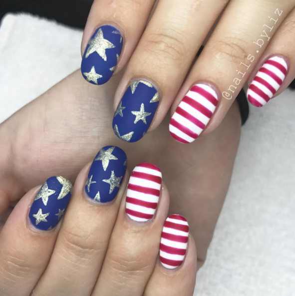 9 Design Ideas for Fierce Fourth of July Nails
