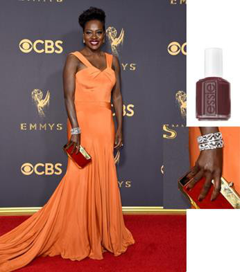Emmys 2017: Viola Davis is Fall Perfection with Essie Manicure