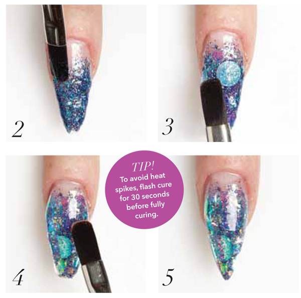 How To Create Mermaid Nails With Glitter Gel Nailpro