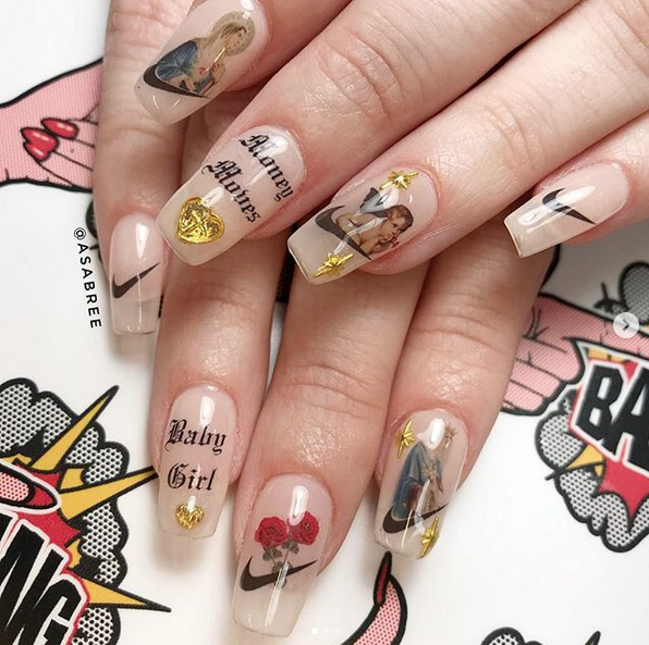 religious nail art
