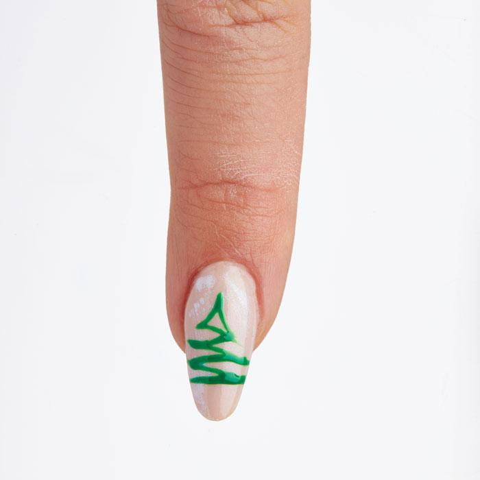 Create a Holiday Nail Design Using Gelish Art Form Gel 2D Technology