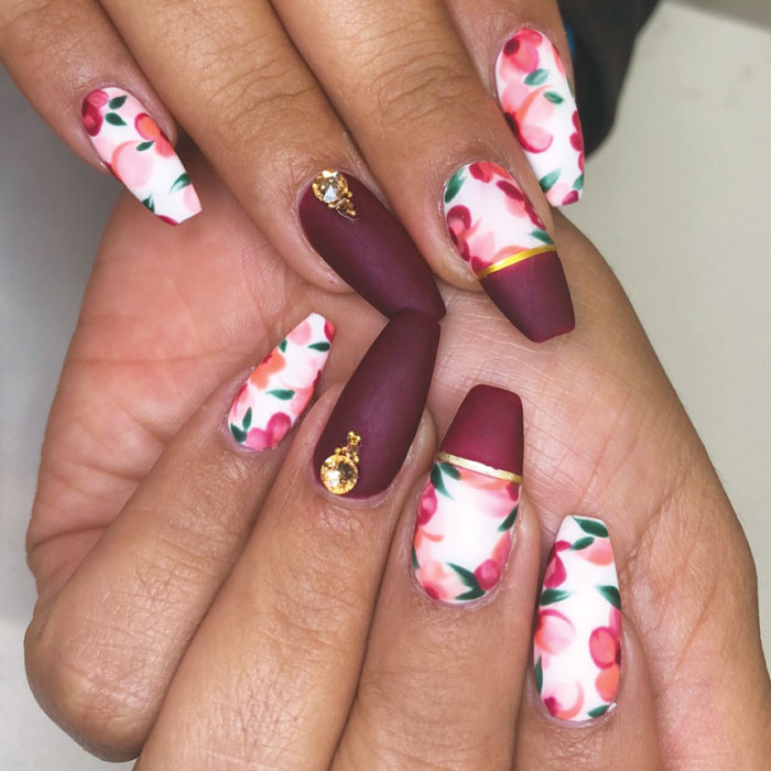 Readers Submitted Floral Nail Art Showcasing Budding Blooms Nailpro