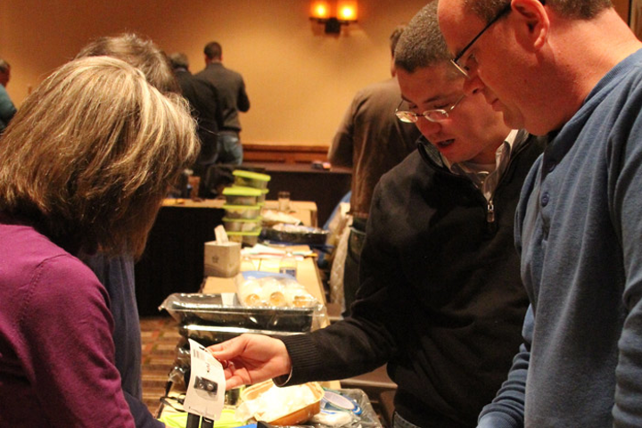 A group event organized by CBST Adventures in Denver involved assembling disaster relief kits.