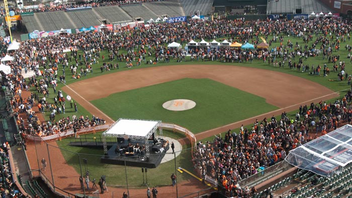 "#7 Sports Event San Francisco Giants fans hit the field at AT&T Park to play catch and mingle with players. Other activities include face painting in the ""Fan Lot,"" a Fan Fest fashion show, and Q&A and autograph sessions with the players. Estimated attendance is 35,000. Next: February 2016"