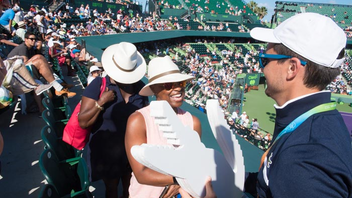 #2 Sports Event In its final run at Key Biscayne, the Miami Open will be headlined by 20-time Grand Slam champion and reigning winner Roger Federer, and 23-time Grand Slam champion Serena Williams. Women's World No. 1 Caroline Wozniacki also leads the players' circle. The annual tennis competition draws more than 300,000 fans to the courts at the Crandon Park Tennis Center on Key Biscayne, and sponsors include Itaú, Lacoste, and Juan Valdez. Next: March 19-April 1, 2018