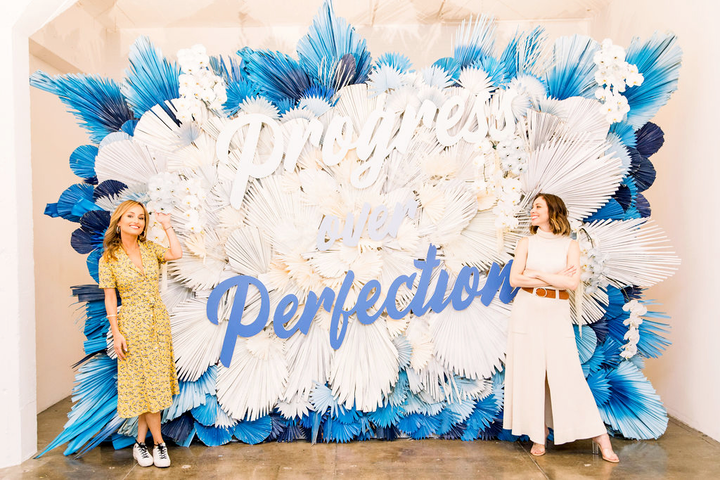 Create & Cultivate hosted its inaugural Self-Care Summit at Hudson Loft on Saturday. More than 500 women listened to talks from Giada De Laurentiis, Tess Holliday, Whitney Port, founder Jaclyn Johnson, and more on topics including self-love and motherhood. Signage throughout the space had inspirational phrases such as 'Progress not perfection' and 'Life is tough but so are you.'