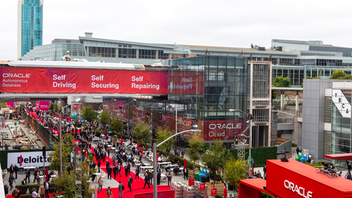 "Up from #5 San Francisco Tech giant Oracle's four-day conference drew roughly 60,000 tech professionals to San Francisco for four days of cloud-centric programming. Headquartered at the Moscone Center, the event included more than 2,000 sessions, 250 exhibitors, and speakers from more than 90 countries. Highlights included performances from John Mayer and Flo Rida, a screening of Mission Impossible—Fallout at Oracle Park, behind-the-scenes tours of the stadium, and a ""Paws and Relax"" puppy playtime area. Next: September 2020"